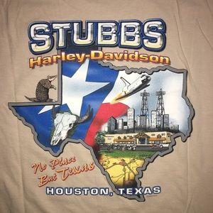 Vintage Stubbs Harley Davidson Houston Texas Tee